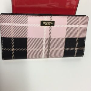 Kate Spade Newbury Lane Printed Plaid Pink